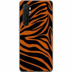 Xiaomi Mi Note 10 Lite Mjukt skal - Orange Zebra