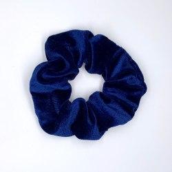 Hårsnodd Scrunchie - Velvet Blå