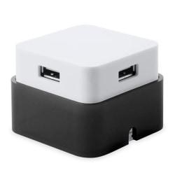2-pack, USB HUB 4 Portar Dvobarvna Svart Black