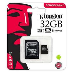 3-pack, Micro-SD Minneskort med Adapter Kingston 32Gb Svart