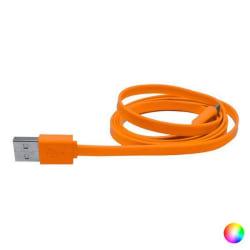 4 Pack, USB-kabel till mikro-USB (50 cm) Orange Orange