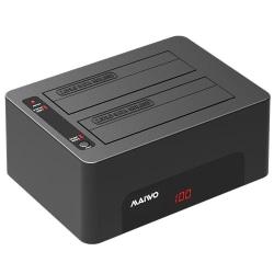HDD/SSD Dockningsstation med två platser, USB 3.1 Black