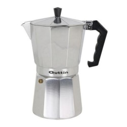 Italiensk Kaffepanna Quttin Aluminium 12 koppar Silver