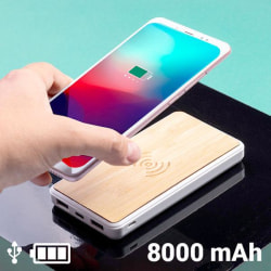 Power Bank with Wireless Charger 1462DC Bamboo
