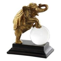 Prydnadsfigur Harts Glas Elefant (19 x 11 x 23 cm) Guld