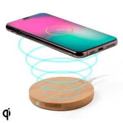 Qi Trådlös Laddare till Smartphones (0,9 x Ø 9,1 cm) Bambu Bamboo