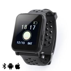 """Smartklocka 1,44"""" LCD Bluetooth Svart Black"""