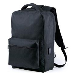 Stöldskydds ryggsäck med USB, Svart Svart