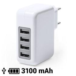 USB-laddare och vägg 3100 mAh White