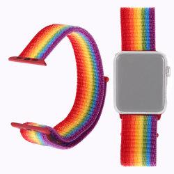 Apple Watch 38mm / 40mm Nylonarmband Regnbåge