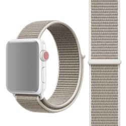 Apple Watch 42mm / 44mm Nylonarmband Ljusgrå