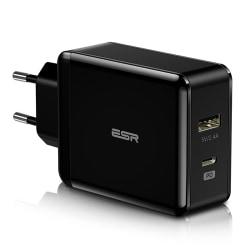 ESR USB & USB-C PD Snabbladdare 30W Strömadapter
