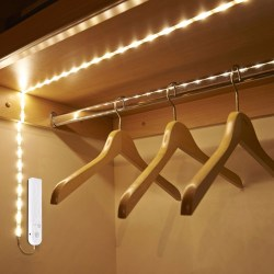 Garderobsbelysning Varmvit LED-slinga Rörelsesensor 3m