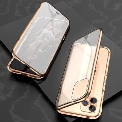 iPhone 11 Pro Max Skal Magnetiskt i Härdat glas Guld