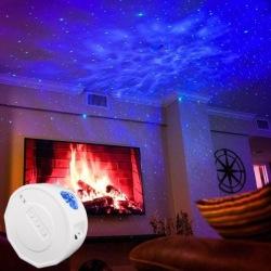 Stjärnprojektor LED Rymdlampa & Bluetooth Högtalare