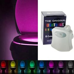 Toalettbelysning LED Olika Färger