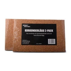 Korkunderlägg 2-pack till planksteksbräda eller ugnformar 30X19
