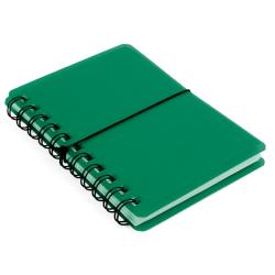 No1 Anteckningsbok 70st ark, post-it-taggar och visitkortsfickor Grön