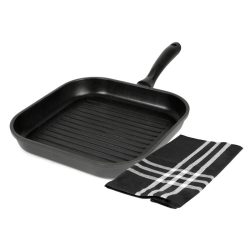 No1 Exxent Grillpanneset 28 cm Black Induction 1 st kökshandduk