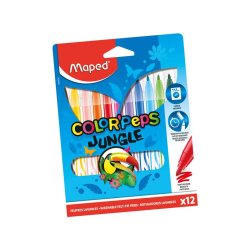 No1 Färgpennor Maped  Coloring Pen 12 Färger Colorpeps Jungle