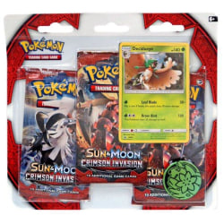 Pokemon Sun & Moon 4 Crimson Invasion 3-Pack - Decidueye