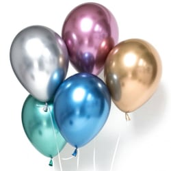 Silver Chrome ballonger 10-pack