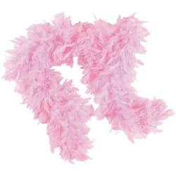 Boa med fjäder fjäderboa rosa