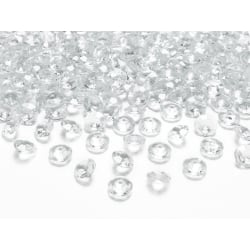 Diamant konfetti, vit, 7mm, 1pack.