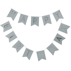 girlang med silver text HAPPY BIRTHDAY
