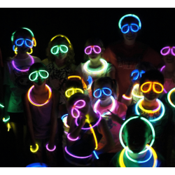GLOW GLASÖGON, glowsticks, självlysande, glow in the dark 10pack
