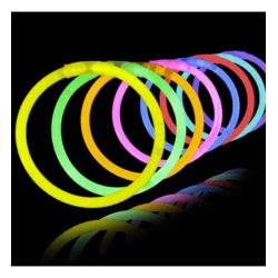 Glowsticks 100-Pack armband - Mixade färger bra kvalité