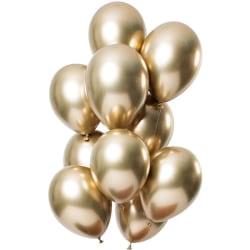 Guld Chrome ballonger 10-pack