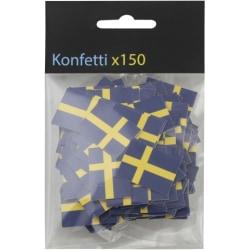 Konfetti Svenska flaggan 150st