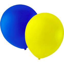 Latexballong Gul & Blå 25-pack