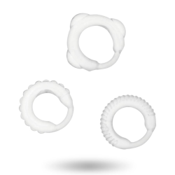 ADDICTED TOYS Penisringar 3-pack, klar Transparent