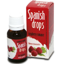 Spanska Droppar Hallonsmak 15ml Lusthöjande/Stimulerande Olja Röd one size