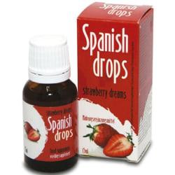 Spanska Droppar Jordgubbssmak 15ml Lusthöjande/Stimulerande Olja Röd one size