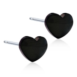 Blomdahl Örhängen Hjärta 5mm Black Titanium Black Titanium