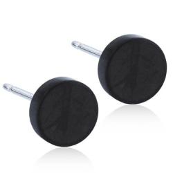 Blomdahl Örhängen Puck 8mm Black  Titanium