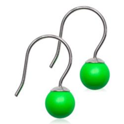 Blomdahl Örhängen Pendant pearl 6mm NT Electric Green Electric Green