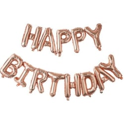 Ballonger 'Happy Birthday' - Roséguld Guld