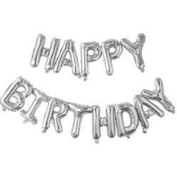 Ballonger 'Happy Birthday' - Silver Silver