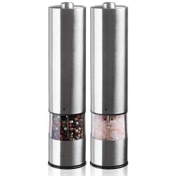 Elektrisk Salt- & Pepparkvarn Silver