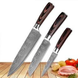 Japanskt Knivset - 3 knivar