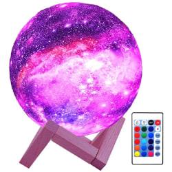 Nattlampa Måne inkl. stativ multifärg