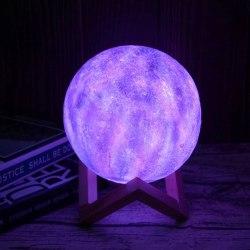 Nattlampa Moon 3D - 16 ljuslägen multifärg