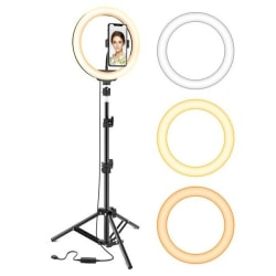 Ring Light Pro Selfie-lampa - TikTok Svart