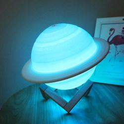 Saturnus 3D LED - Nattlampa