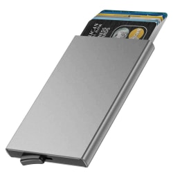 Smart Korthållare (RFID Säker) - Silver Silver one size