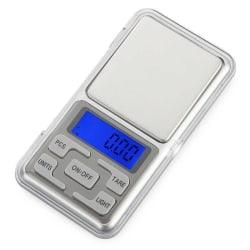 Digitalvåg i fickformat 0,01g / 200g silver